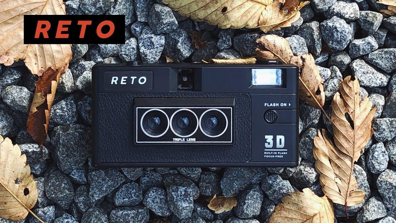 3眼レンズで3D写真が撮影できるフィルムカメラ「RETO3D」