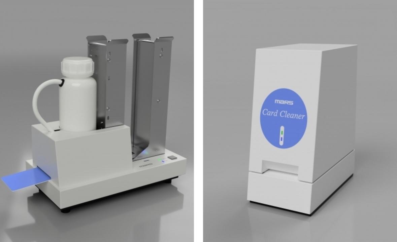 カードの受け渡しによる感染を防ぐ「全自動カードクリーナ」が開発される