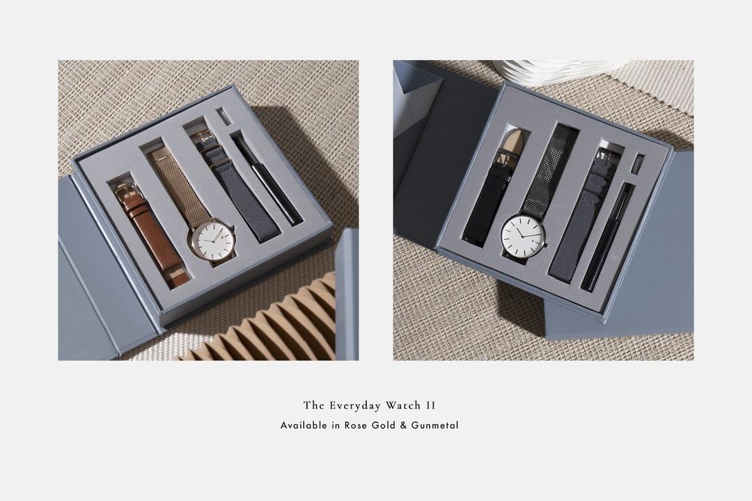 腕時計はカスタムして楽しもう。ストラップを付け替えられる「The Everyday Watch II」