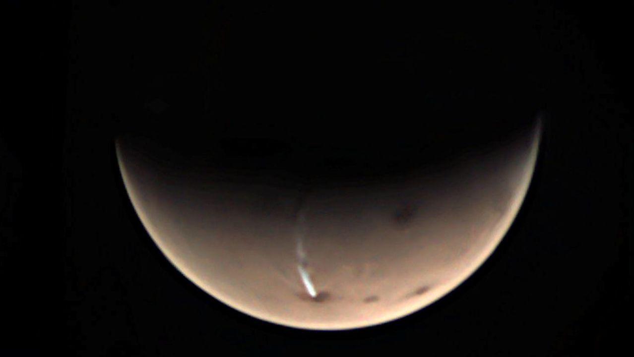 火星でのろしが上がってます