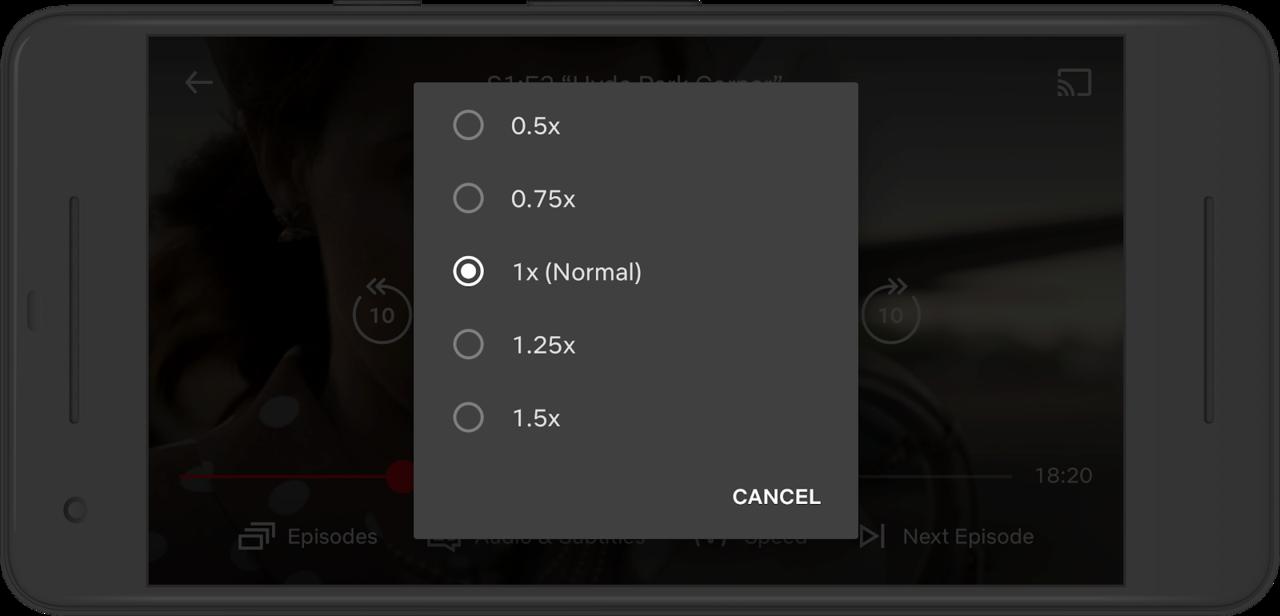 ネトフリ、Androidスマホで動画再生の速度が変更できるように。今後はiOSとWebも