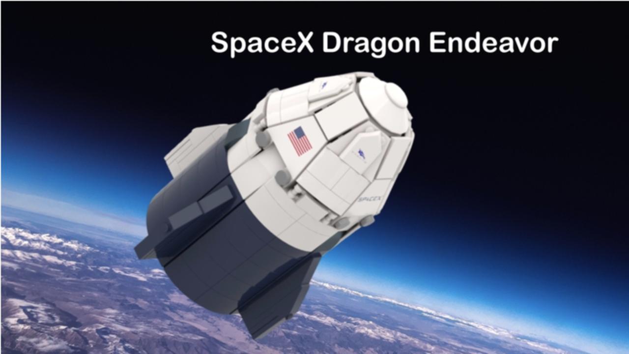 LEGO IDEASに先日帰還したSpaceXの「クルー・ドラゴン」宇宙カプセルが登場。1万いいねで商品化されるかな?