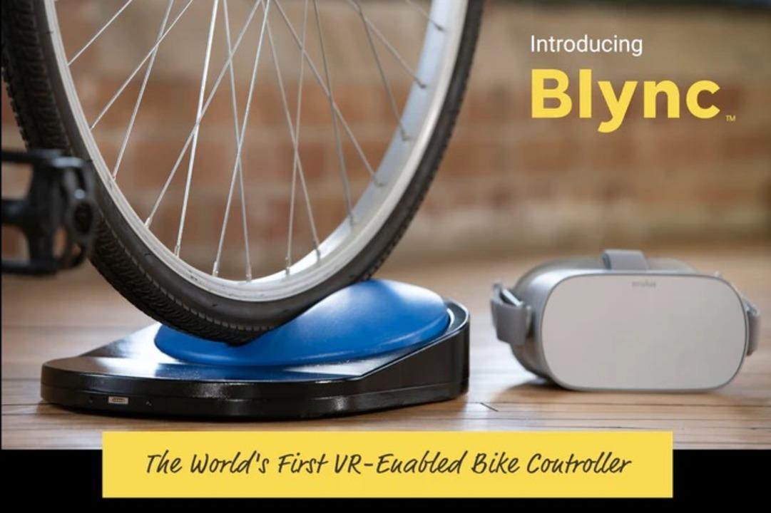 自分の自転車をVRコントローラーにする「Blync」