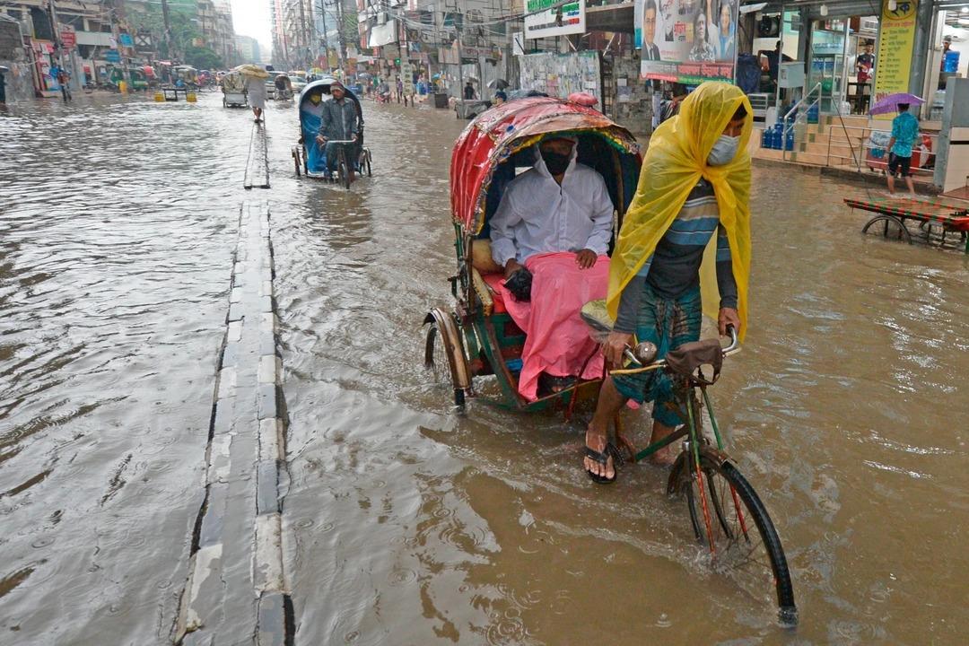モンスーンによる洪水で、バングラデシュが1/3も水没…