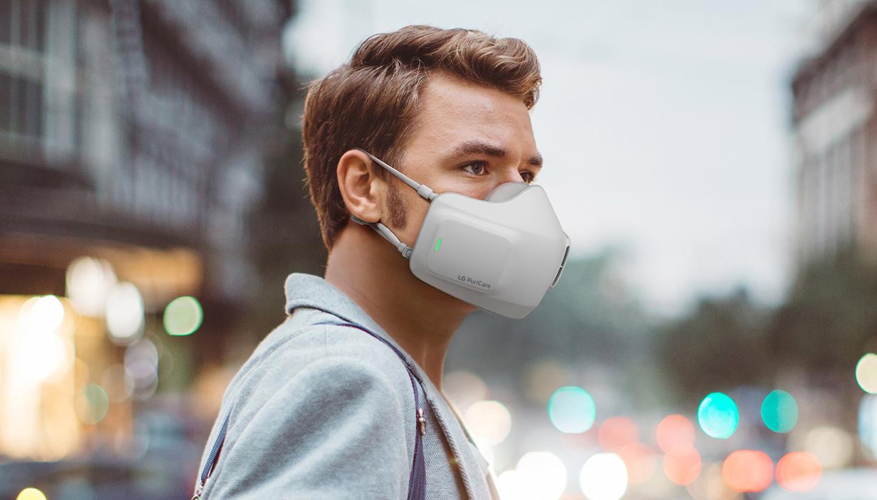 LGの空気清浄機つきマスクがやたらハイテク