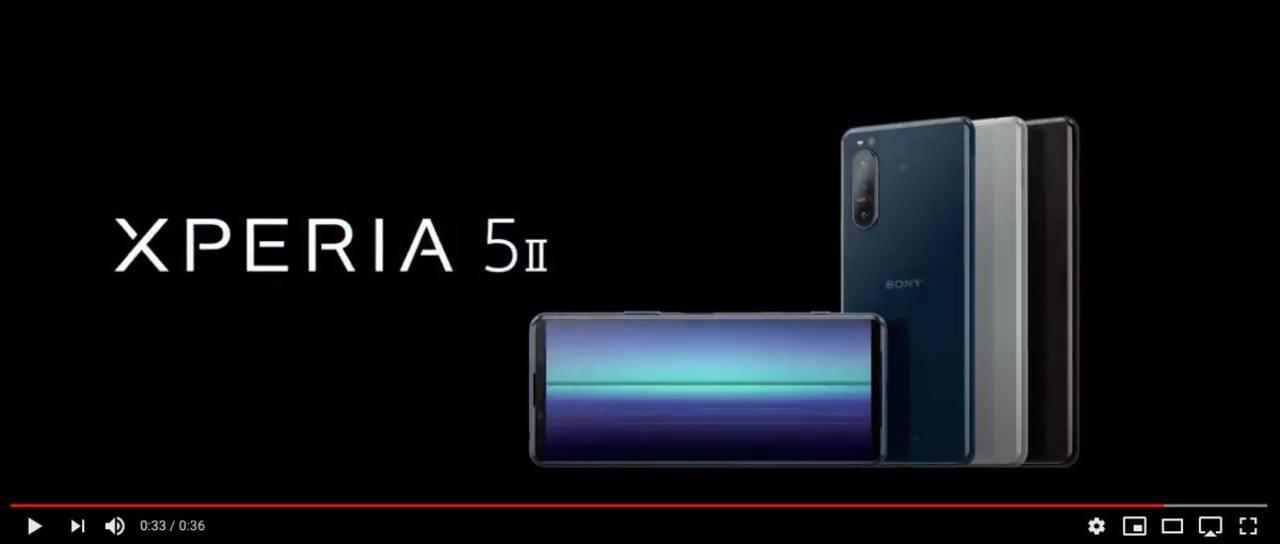 未発表の「Xperia 5 II」。公式プロモ映像もリークされ、ほぼ完璧に漏れる