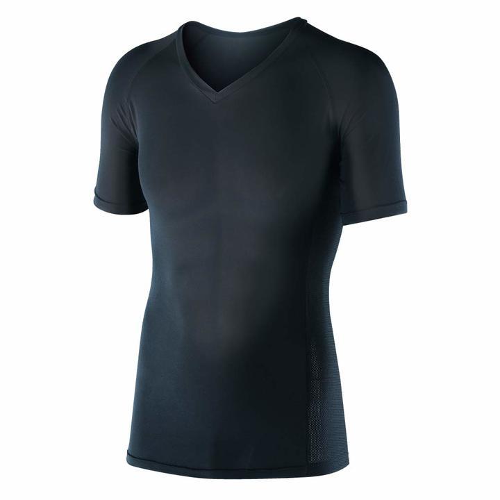縫い糸が消臭してくれる!? 冷感ストレッチのVネック半袖シャツ「 ボディータフネス」