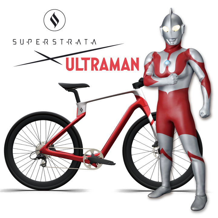 速そうというか強そう。ウルトラマンデザインのeバイク