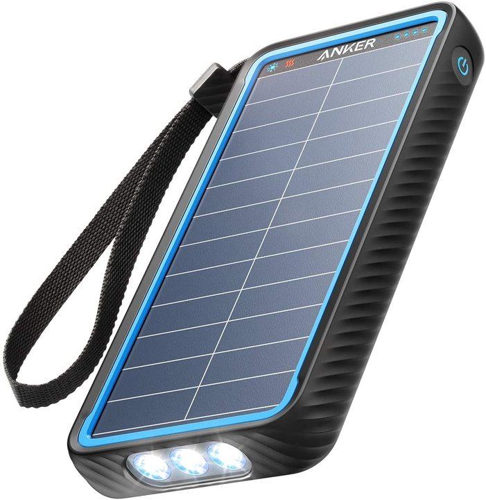 アウトドアや防災の備えに! ソーラー充電できる防水10000mAhモバイルバッテリーが20%オフで販売中