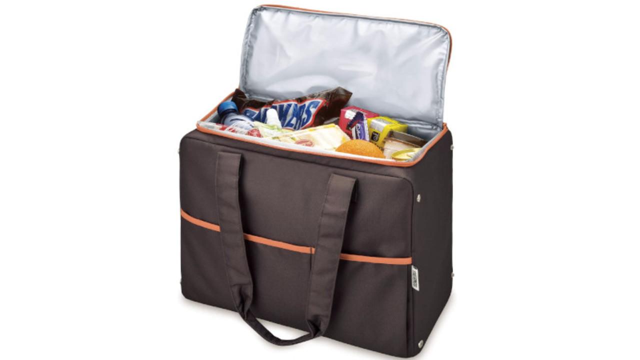 毎日の買い物に最適なサーモスの保冷バッグ。小さくたためて使いやすい