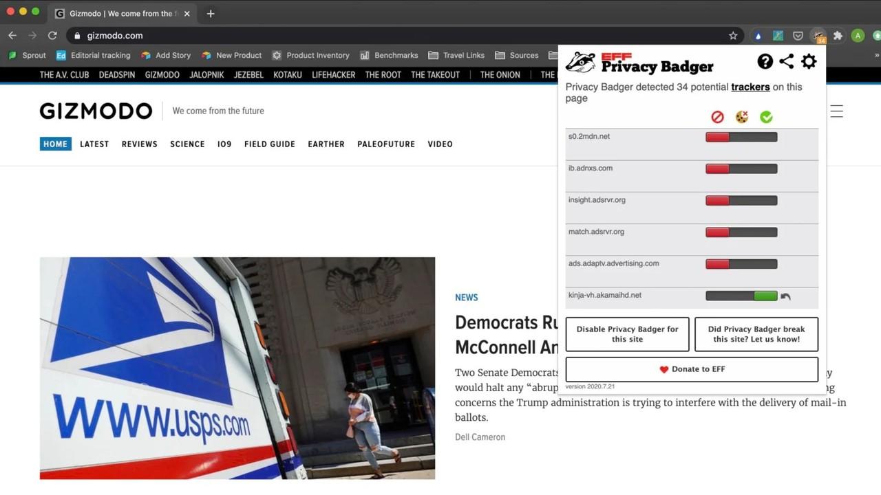 監視されているウェブ閲覧の足跡、ブラウザ拡張機能で対策を