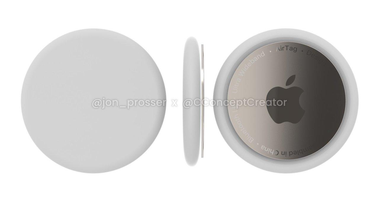 Jonが見たってさ。Appleの忘れ物防止タグ「AirTags」のレンダリング画像がこちらです