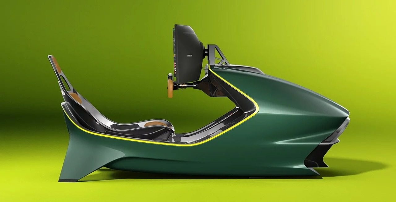 完全にゲーセンの体感型筐体。アストンマーティンが設計したレーシング・シミュレーター