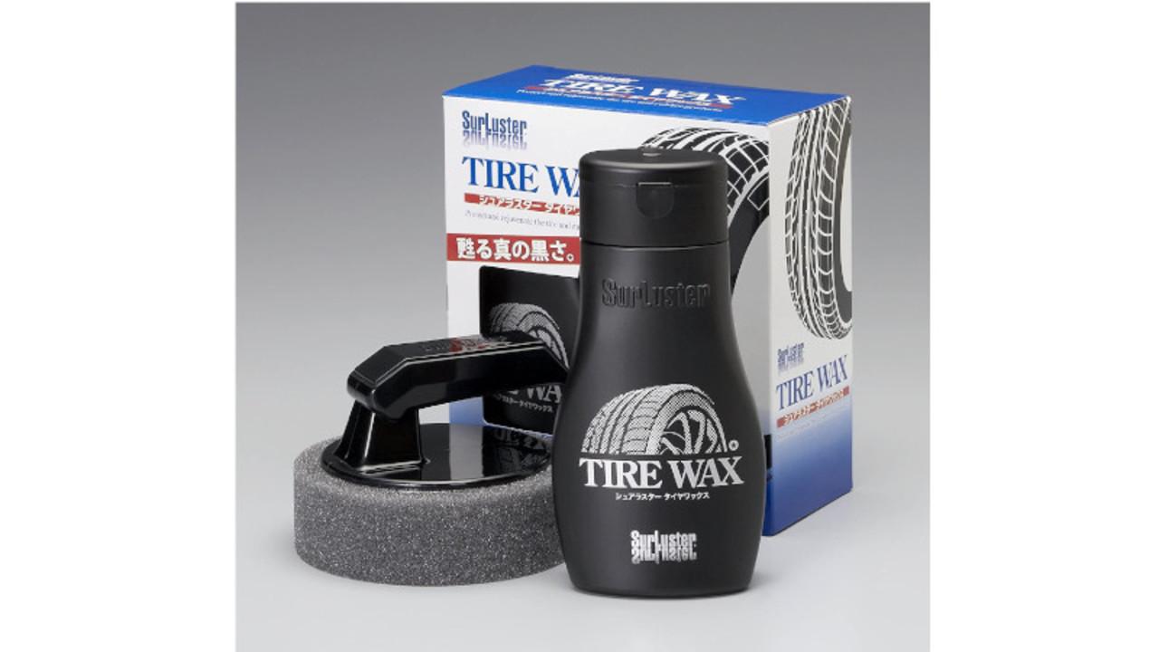 簡単にタイヤのツヤが出て塗りやすい、水性タイプのワックス