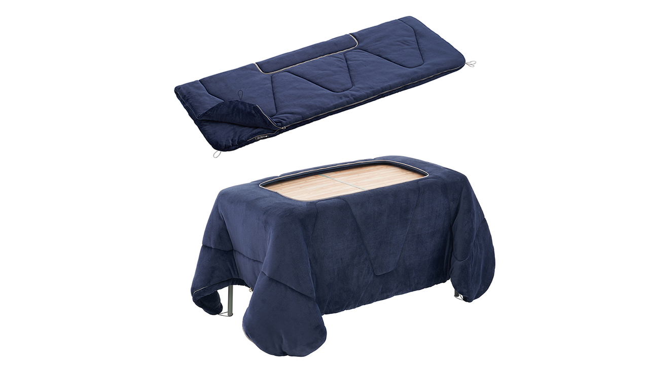 冬のテレワークに。テーブルをこたつ化できる大型寝袋