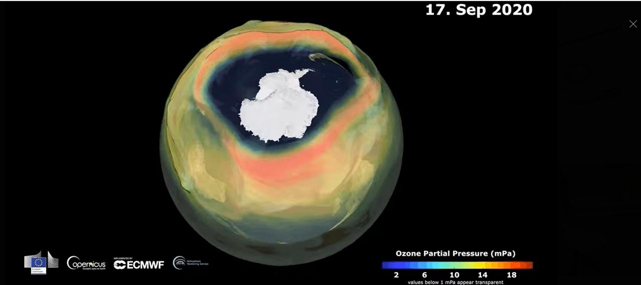 今年のオゾンホールはアメリカの2倍の大きさです。