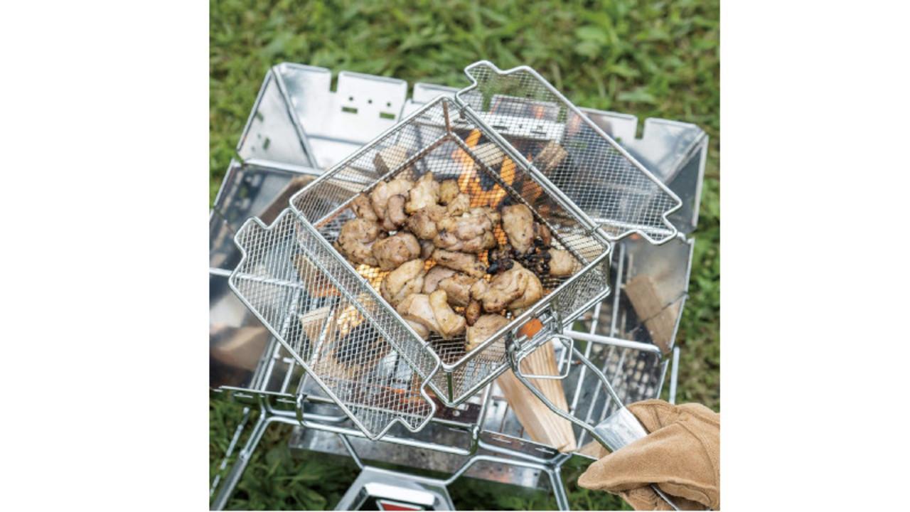 バーベキューが手軽に美味しく作れる、片手持ちの技ありグリル2選