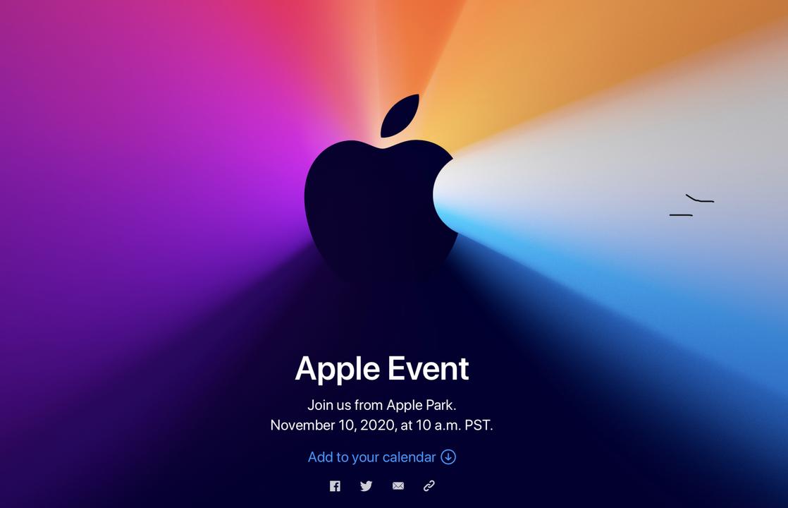 【速報】Appleから招待状が来たよ!11月11日3時から。ついに待ちに待ったApple Silicon搭載Macが発表されるかなあ