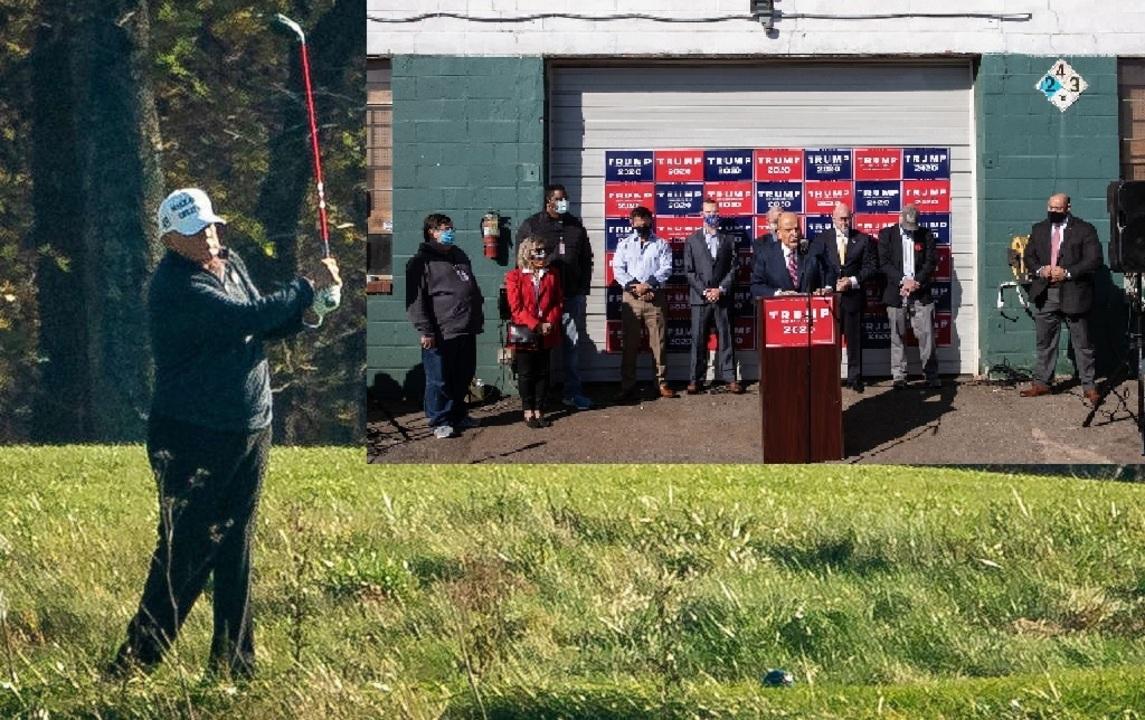 トランプ弁護団が火葬場前のフォーシーズンズ造園で会見。駐車場で徹底抗戦を誓う【訂正あり】
