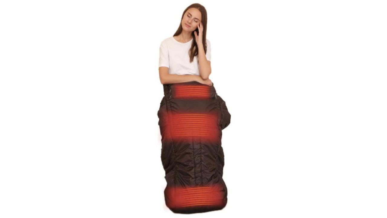 寝袋みたいなヒーターは省スペースで効率よく下半身を温められる