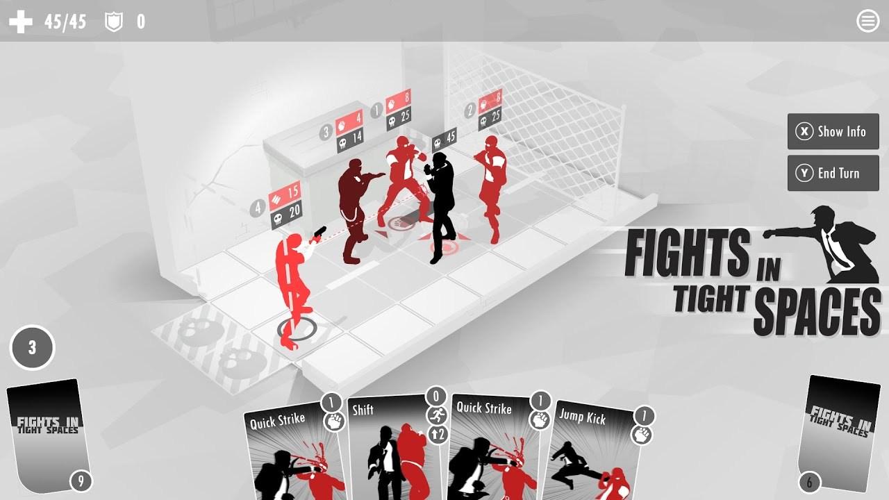 映画の閉鎖空間でのアクションシーンをターン制で再現した奇抜なカードゲーム