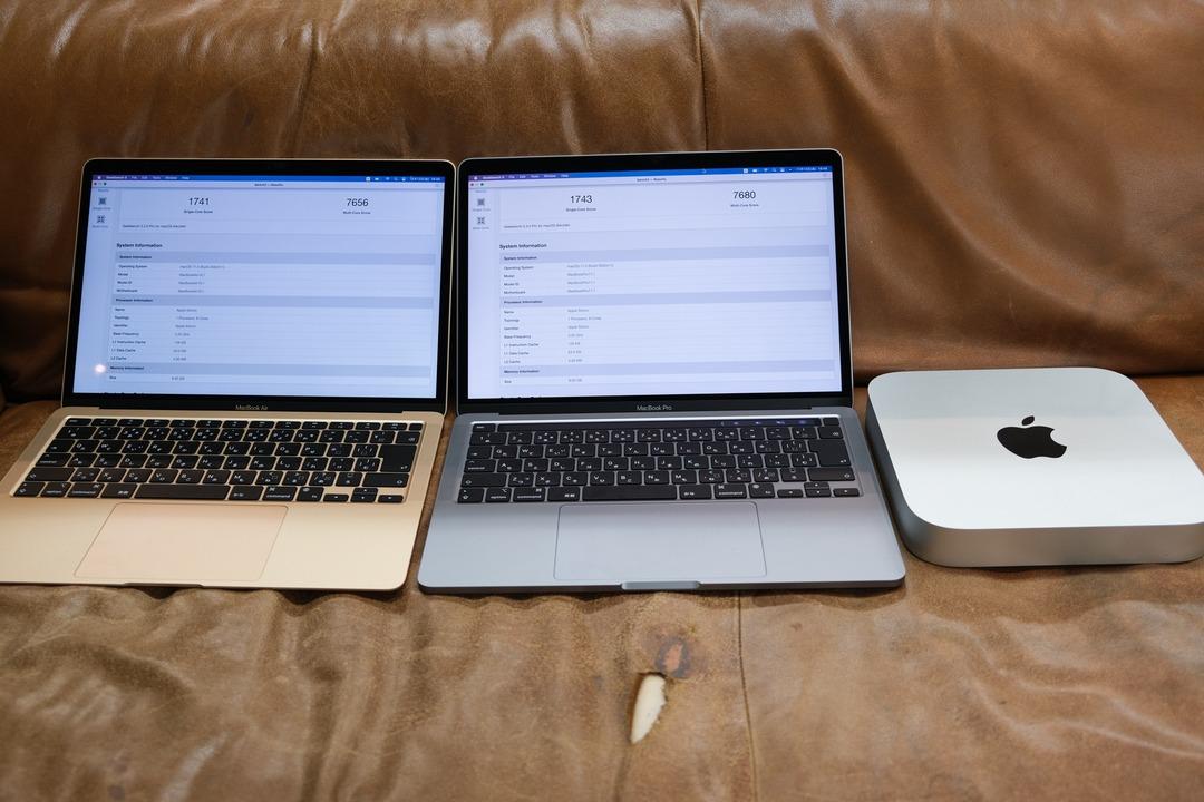 M1チップ搭載Macたちの実機ベンチマーク、とりました。めっちゃ強いです。