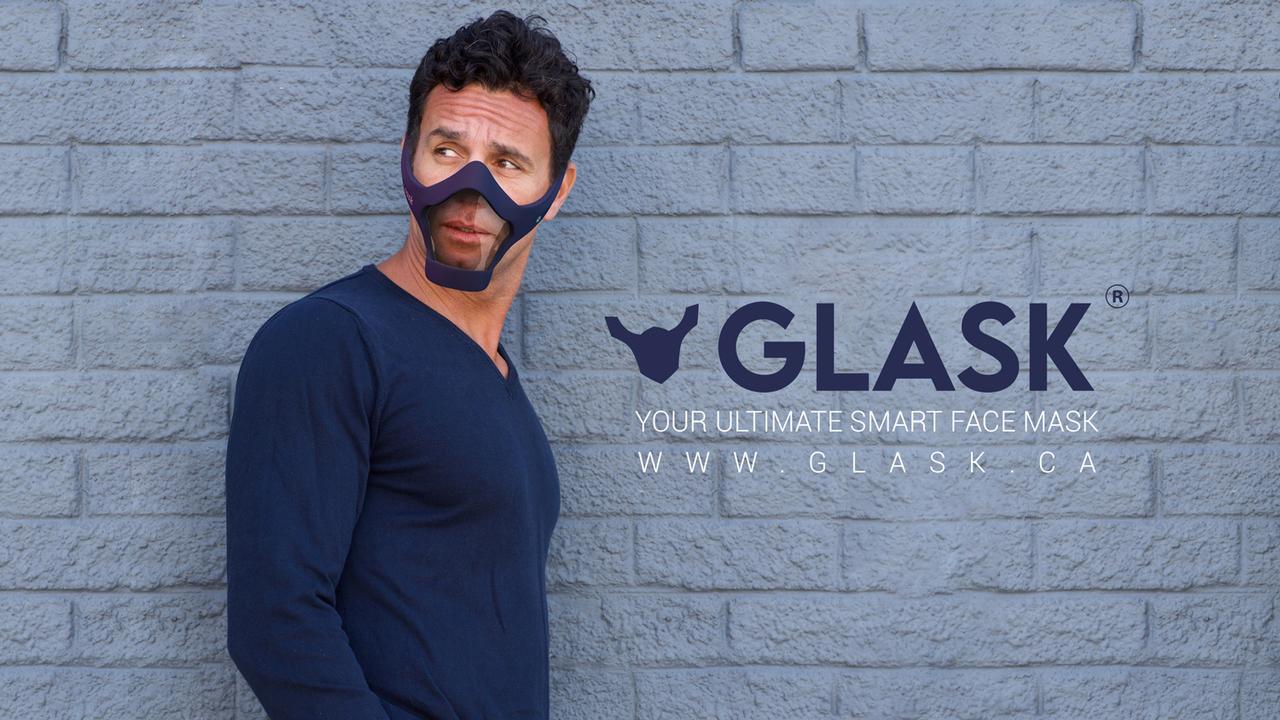 エヴァ初号機みたい。電動ファンで排気、骨伝導イヤフォンで通話もできる未来派マスク「Glask」