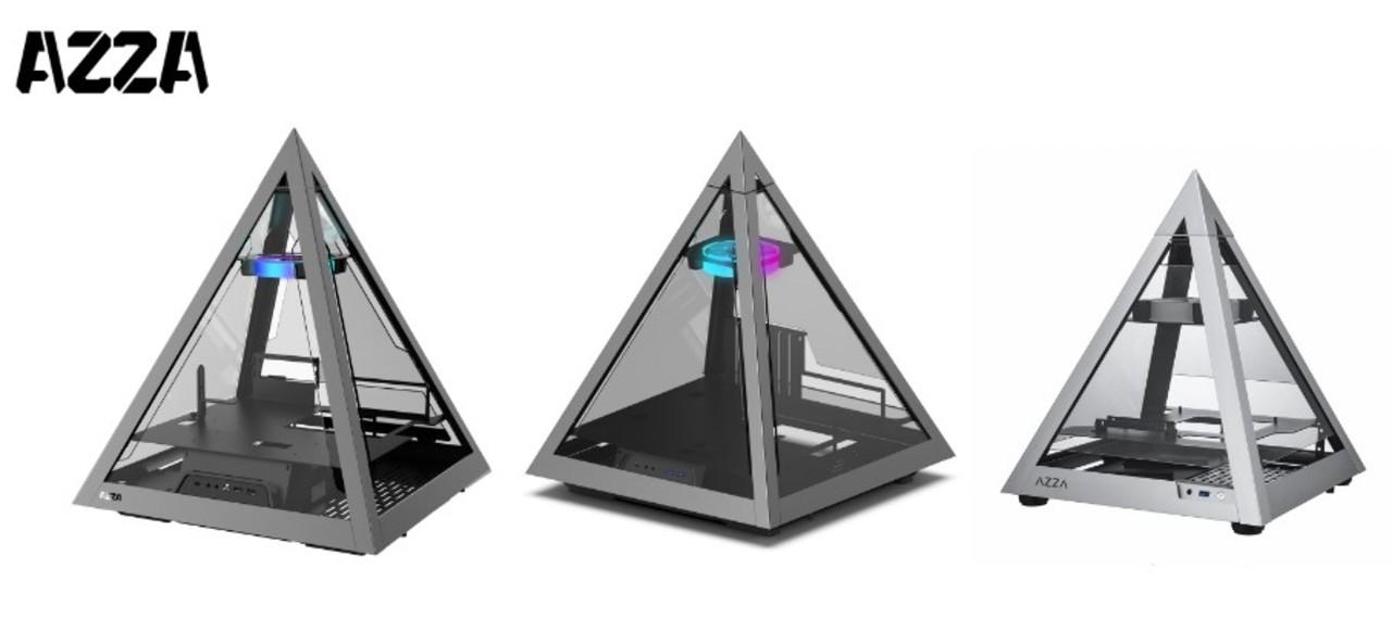 不思議な力が宿りそう。ガラスパネルで中が見えるピラミッド型PCケース