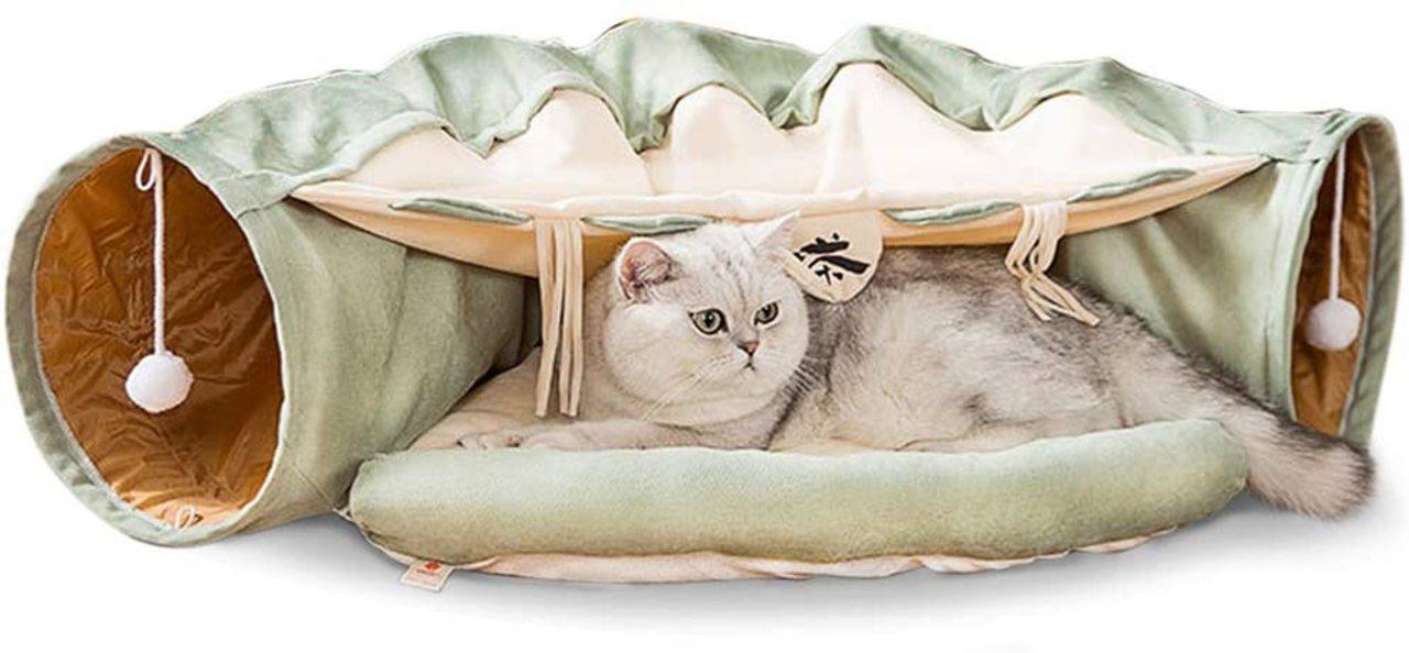 【Amazonブラックフライデー】うちの猫も何か買いたいと言っている! 猫ハウス&トンネルが20%オフ