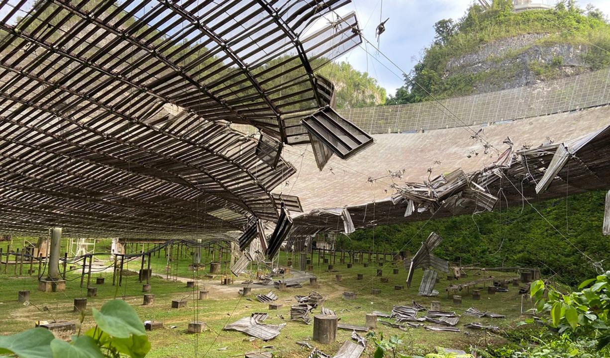 アレシボ天文台の電波望遠鏡、ついに崩壊