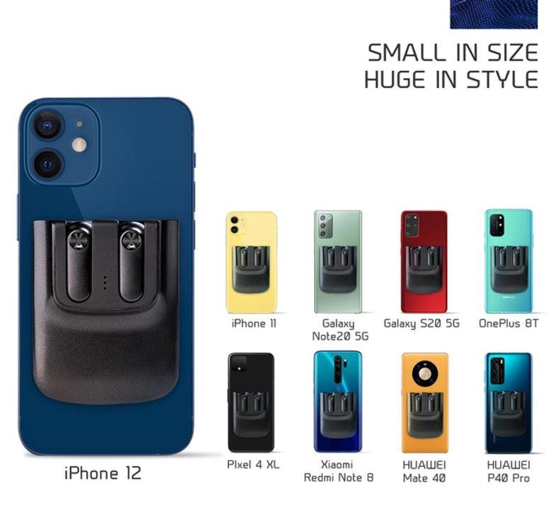 iPhone 12に磁力で合体! ホルダー充電で落ちにくい小型の完全無線イヤフォン「Snapods」