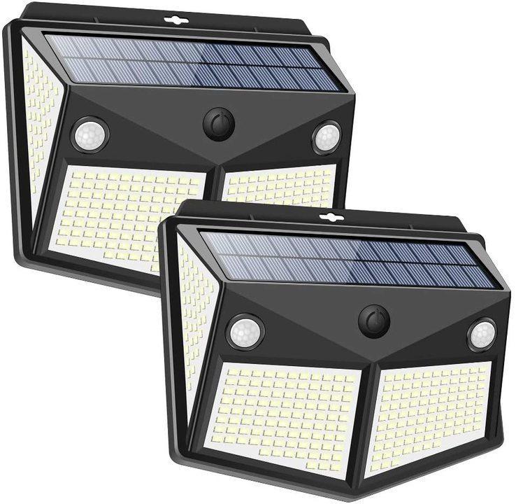 超明るくて大満足。2個入りで3,000円弱の太陽光発電センサーライトを買ってみた