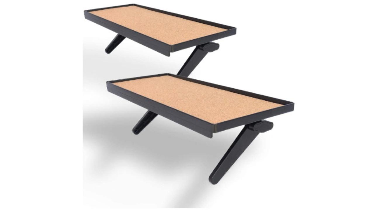 ディスプレイの上に簡単設置で空間を有効活用できる棚はコルクシートも付いて安定感が高いぞ
