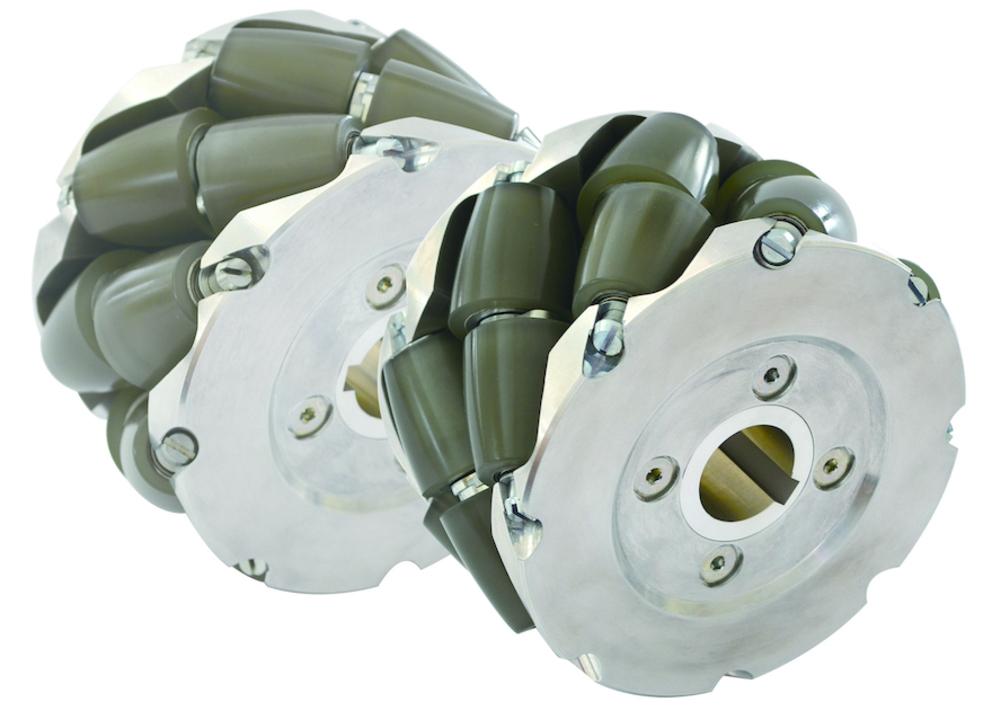グッドデザイン賞をゲットした全方向型駆動車輪「フジ ニンジャホイール」。1輪の耐荷重はなんと300kg!