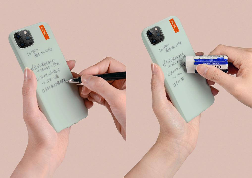 スマホケースがメモ帳に! 油性ペンで書いて消せる「wemo」にiPhone 12/12 Pro用が登場