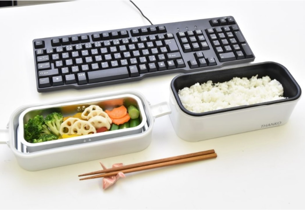 15分でお米を炊いてレトルトやおかずも同時に温められる「2段式超高速弁当箱炊飯器」