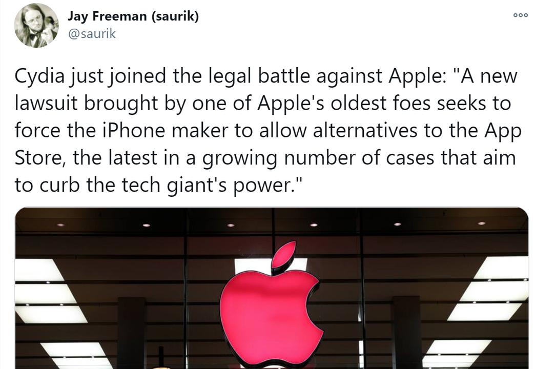 元祖AppStoreは忘れない。脱獄アプリストアのCydiaが地獄の淵からApple再提訴