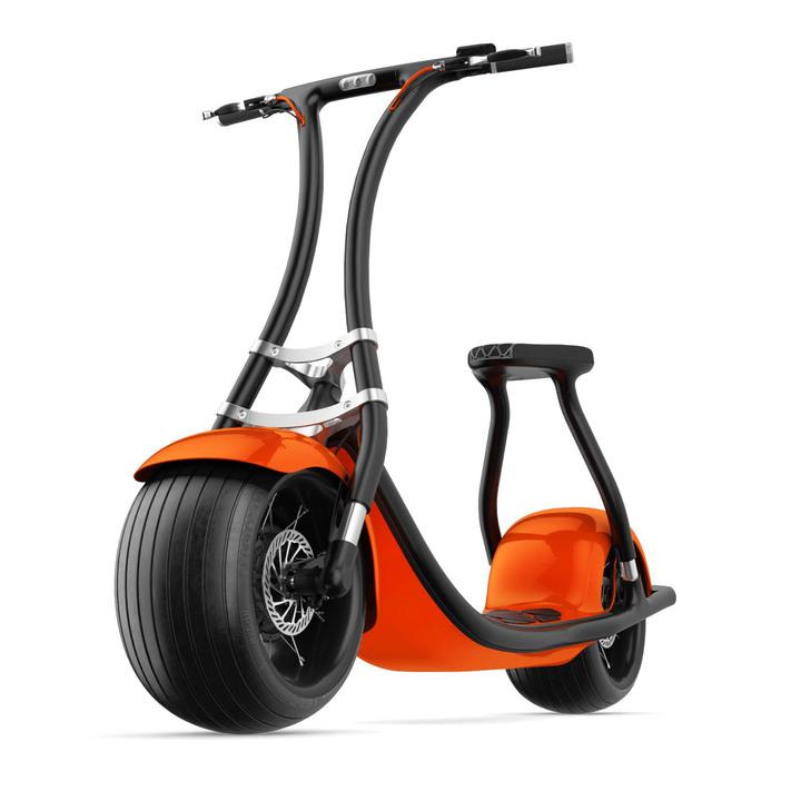 自動バランス機能で倒れない。スマホで共有もできる極太タイヤのeスクーター「rolley」