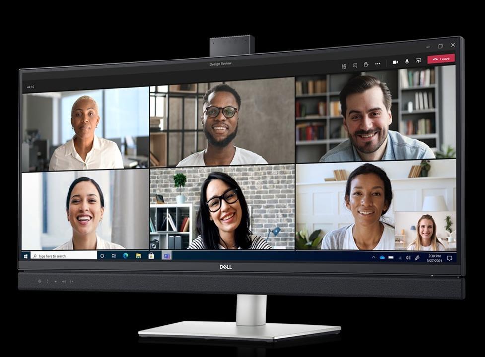 Dellの「リモートワーク特化ディスプレイ」は機能マシマシ、ビデオ会議番長