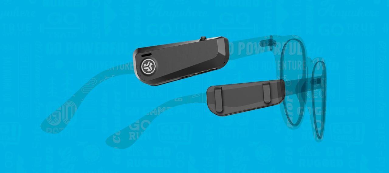 PC眼鏡にもサングラスにも。ツルに装着する完全無線イヤフォン。耳を塞がずたったの49ドル