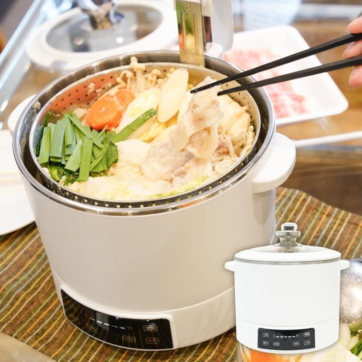 鍋の美味しい季節は1段上のレベルで。スープから食材だけが自動でせり上がる「電動昇降グリル鍋」