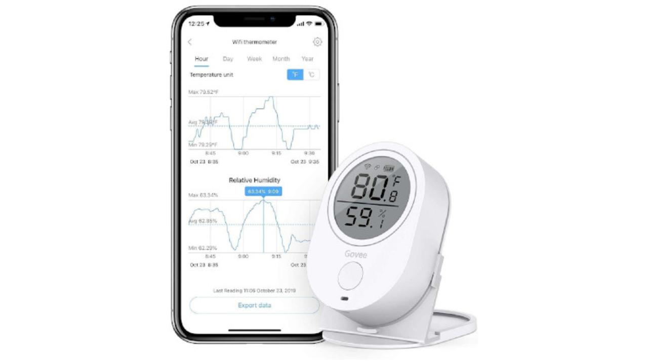 遠隔地の温湿度をしっかり監視。Alexa連携で遠隔操作もできる「WiFi デジタル温湿度計」