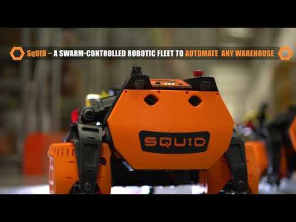 『もやしもん』みたいな顔が可愛い。巨大な倉庫で高い棚をスイーっと登るロボット「SqUID」