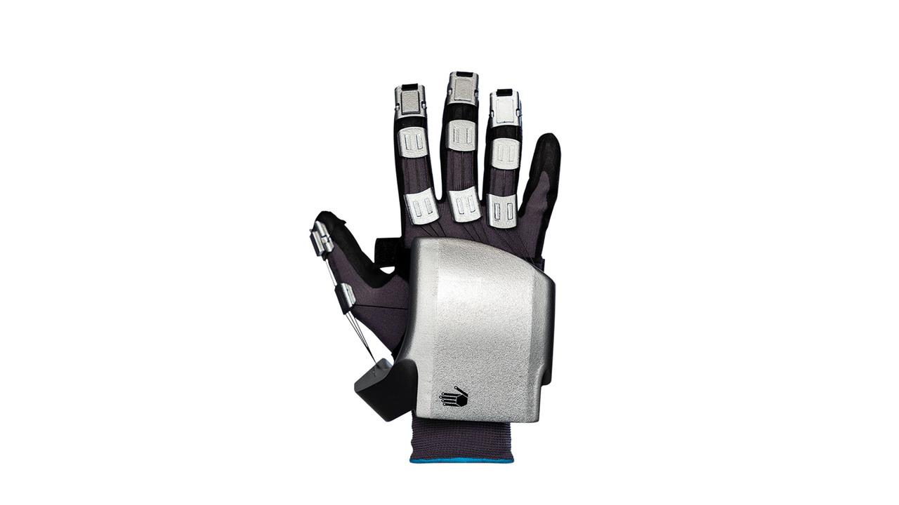ロボットハンドにしか見えない。触覚&力覚フィードバック搭載VR手袋「SenseGlove Nova」