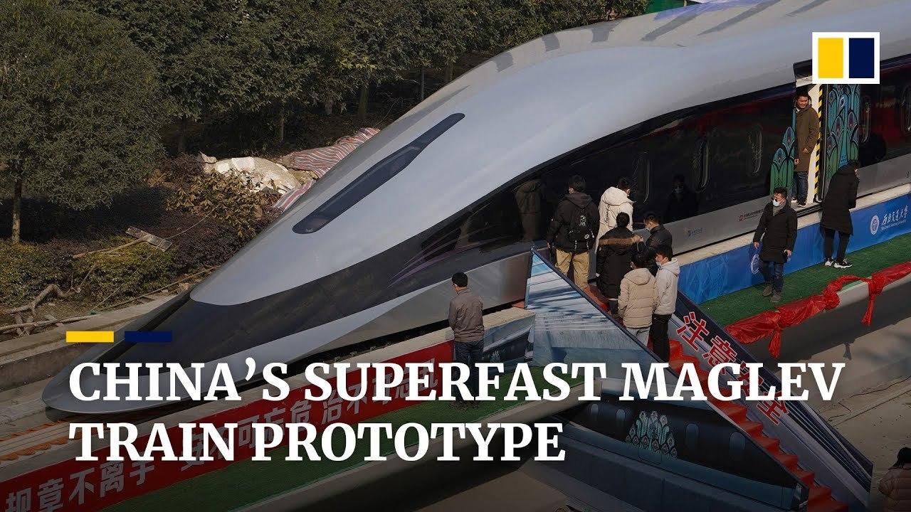 磁力で浮いて最高時速620km! 中国で最新型のリニアモーターカー試作機が発表される