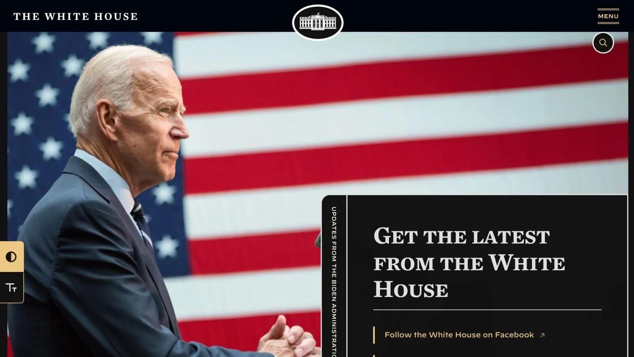 ホワイトハウスの公式サイトがダークモードに対応