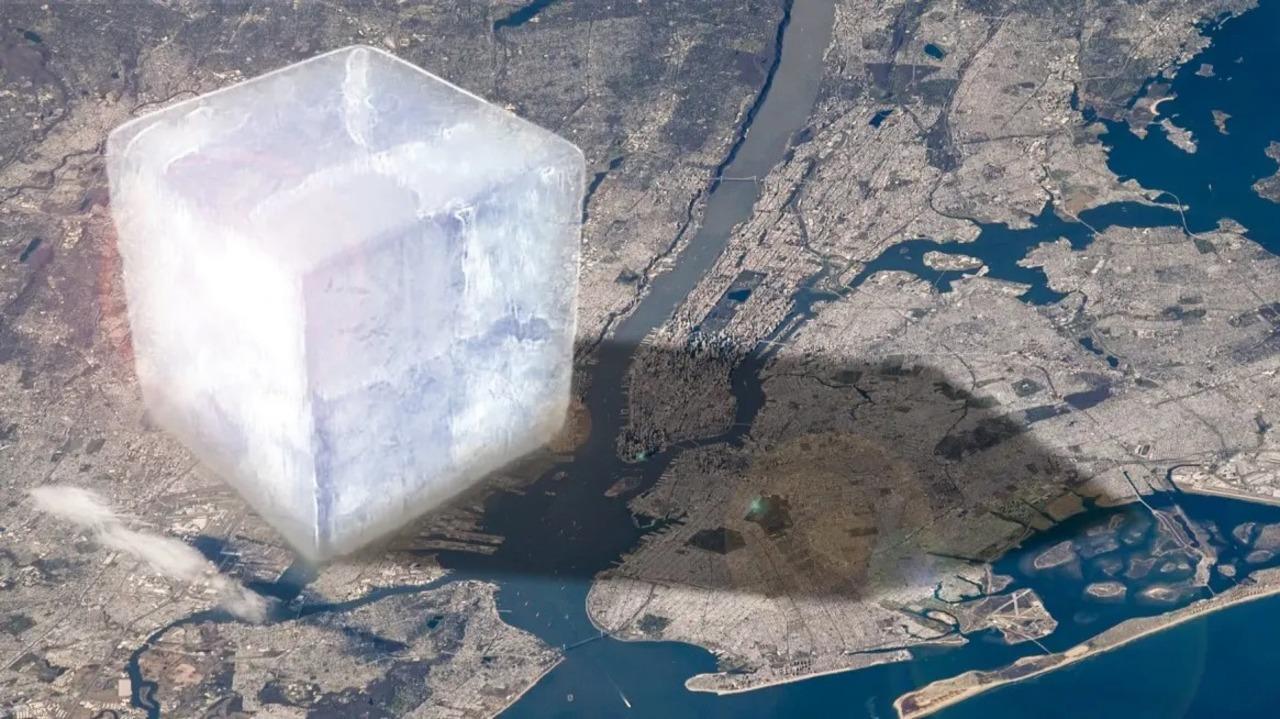 このでっかい氷の塊が、わたしたちが1年で失う氷の量です