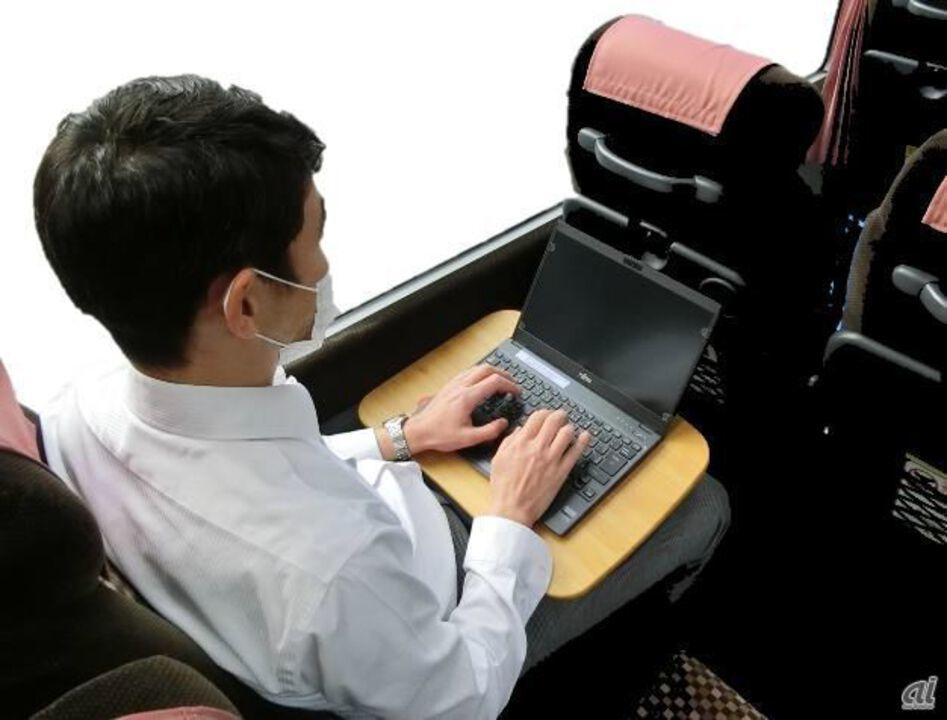 移動は勤務時間に含まれます! 東急バスの動くシェアオフィスならね