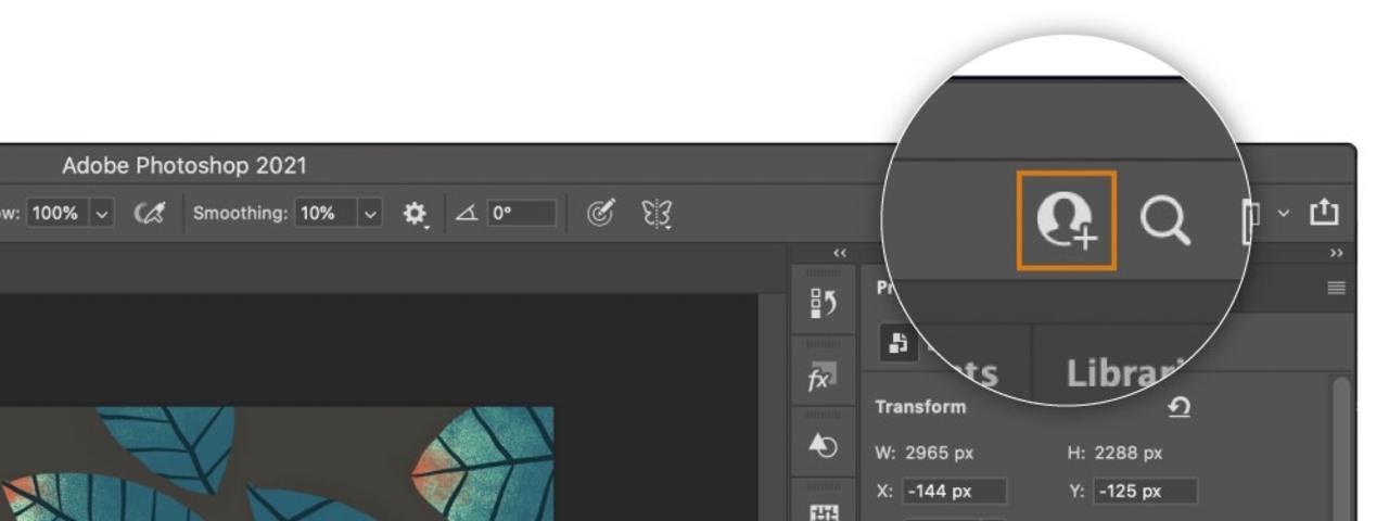みんなで同じフォトショファイルを編集できます。共同編集機能がAdobeソフトに登場