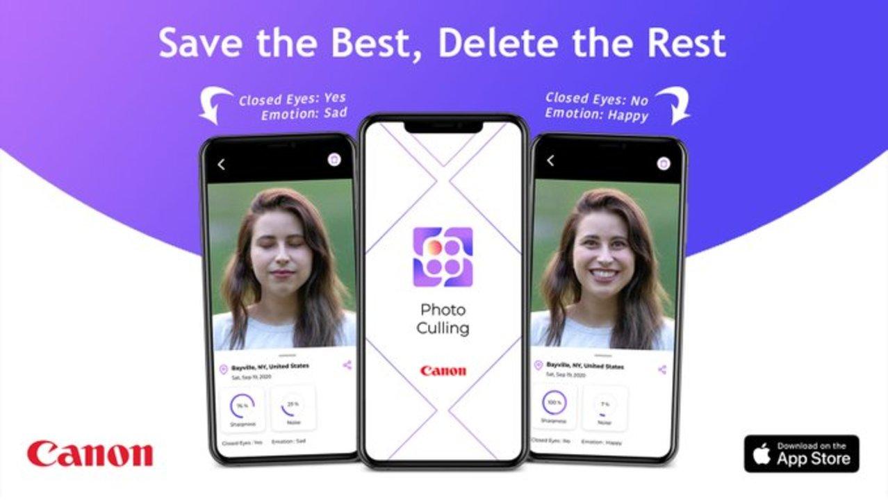 キヤノンのAI写真管理アプリ、アルバム内で連射した中からベストな1枚を選んで残りは消去を提案